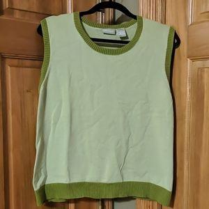 Women's xl Field Gear Tank Sweater Green